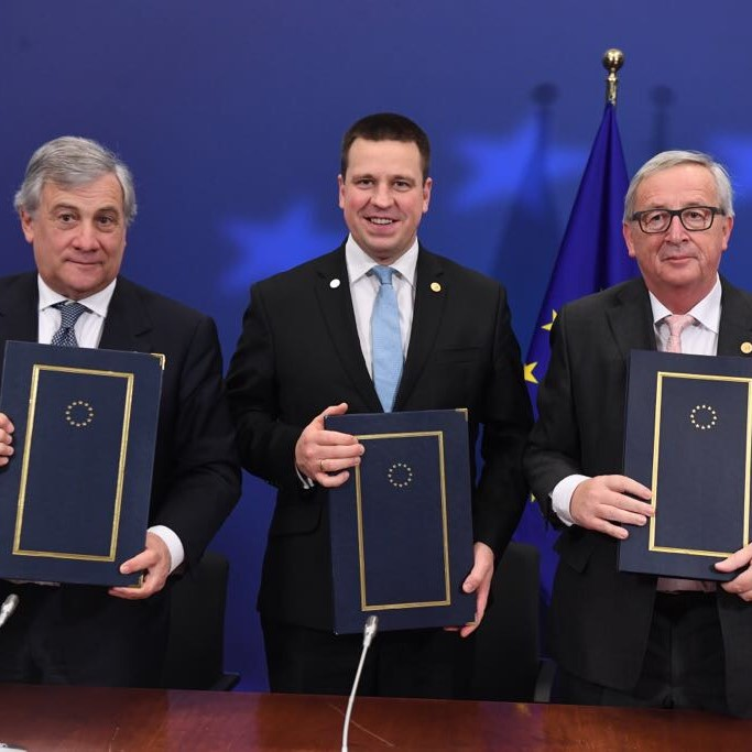 joint declaration 2018 tajani juncker estonia